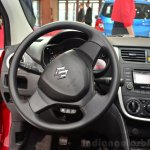 Suzuki Celerio steering wheel at the 2014 Paris Motor Show