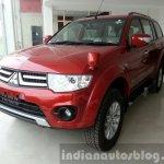 2014 Mitsubishi Pajero Sport facelift front quarter India