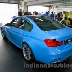 2015 BMW M3 rear three quarters view for India