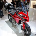 2015 Ducati Multistrada 1200 front three quarters left at EICMA 2014