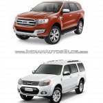 2015 Ford Endeavour vs older model front