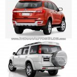 2015 Ford Endeavour vs older model rear