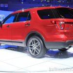 2015 Ford Explorer rear three quarters left at the 2014 Los Angeles Auto Show