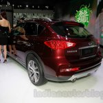 2015 Infiniti QX50 rear quarters at the Guangzhou Auto Show 2014
