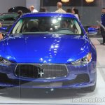 2015 Maserati Ghibli front at the 2014 Los Angeles Auto Show
