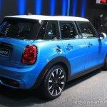 2015 Mini Cooper 5-door Hardtop rear three quarters right at the 2014 Los Angeles Auto Show