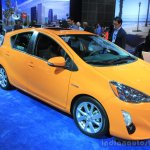 2015 Toyota Prius c front three quarters at the 2014 Los Angeles Motor Show