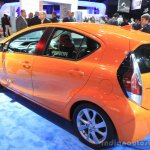 2015 Toyota Prius c rear three quarters left at the 2014 Los Angeles Motor Show