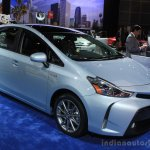 2015 Toyota Prius v front three quarters at the 2014 Los Angeles Motor Show