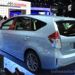 2015 Toyota Prius v rear three quarters left at the 2014 Los Angeles Motor Show