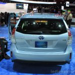 2015 Toyota Prius v rear view at the 2014 Los Angeles Motor Show