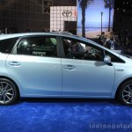 2015 Toyota Prius v side at the 2014 Los Angeles Motor Show