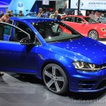2015 VW Golf R front three quarters at the 2014 Los Angeles Auto Show
