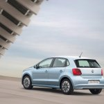 2015 VW Polo BlueMotion rear three quarter