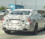 2016 BMW 7 Series rear quarter spied