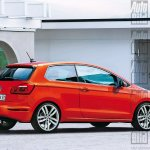 2017 VW Polo rendering rear