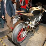 Aprilia RSV4 RR rear three quarter at EICMA 2014
