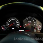 BMW M4 Coupe instrument cluster lit up for India