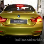 BMW M4 Coupe rear for India