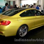 BMW M4 Coupe rear three quarters right for India