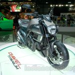 Ducati Diavel Titanium front three quarters left at EICMA 2014