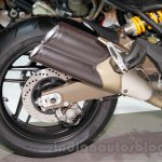 Ducati Monster 821 Stripe exhaust at EICMA 2014