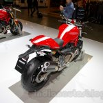Ducati Monster 821 Stripe rear three quarters left at EICMA 2014
