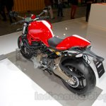 Ducati Monster 821 Stripe rear three quarters right at EICMA 2014