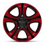 Fiat 500X Mopar red alloy wheels
