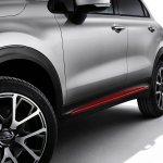 Fiat 500X Mopar red side moulding