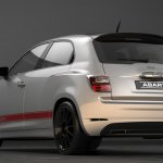 Fiat 600 rendering Abarth rear three quarter