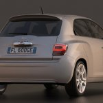 Fiat 600 retro rendering rear three quarter