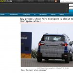 Ford EcoSport without spare wheel