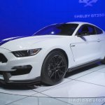 Ford Shelby GT350 Mustang front three quarters right at the 2014 Los Angeles Auto Show