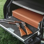 Holland & Holland Range Rover gun case in the boot