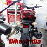 Honda CB Unicorn 160 spied taillight