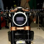 Husqvarna 401 Vitpilen concept LED headlight at EICMA 2014