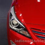 Hyundai Verna Facelift headlight at the 2014 Guangzhou Auto Show