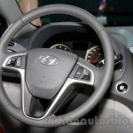 Hyundai Verna Facelift steering at the 2014 Guangzhou Auto Show