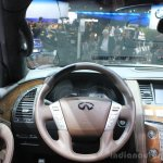 Infiniti QX80 Limited Edition steering wheel at the 2014 Los Angeles Auto Show