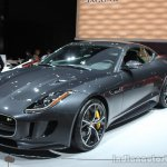 Jaguar F-Type R Coupe AWD front three quarters at the Los Angeles Auto Show 2014