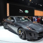 Jaguar F-Type R Coupe AWD front three quarters left at the Los Angeles Auto Show 2014