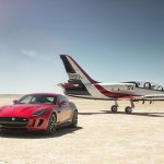 Jaguar F-Type R Coupe AWD with a jet