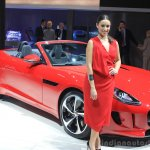 Jaguar F-Type manual transmission variant front three quarters at the 2014 Los Angeles Auto Show
