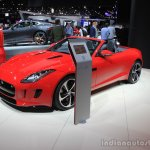 Jaguar F-Type manual transmission variant front three quarters left at the 2014 Los Angeles Auto Show