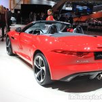 Jaguar F-Type manual transmission variant rear three quarters left at the 2014 Los Angeles Auto Show