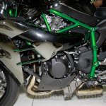 Kawasaki Ninja H2 engine at EICMA 2014