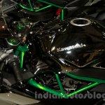 Kawasaki Ninja H2 fuel tank at EICMA 2014