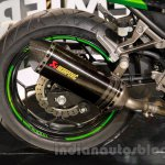 Kawasaki Z300 exhaust at the EICMA 2014