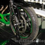 Kawasaki Z300 front wheel at the EICMA 2014